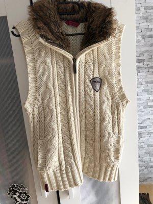 moorhead Gilet tricoté blanc cassé