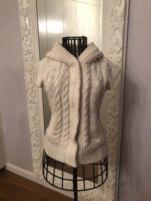 Zara Knit Knitted Vest cream-oatmeal