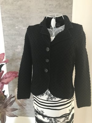 Madeleine Knitted Blazer black cotton