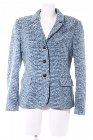 Strickblazer blau meliert Country-Look
