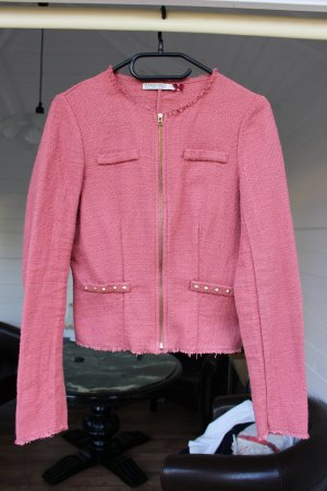 Stradivarius Knitted Blazer bright red-gold-colored