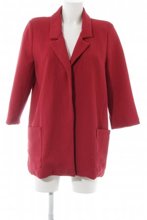 Blazer in maglia rosso scuro look vintage