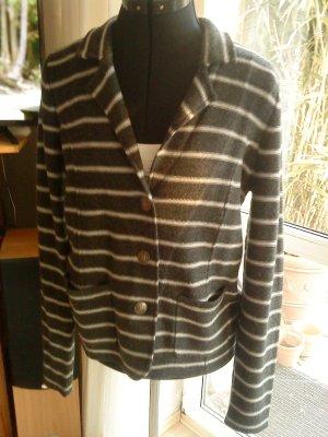 Tahari Knitted Blazer dark grey-light grey merino wool