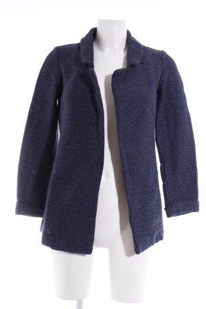 Knitted Blazer white-dark blue flecked casual look