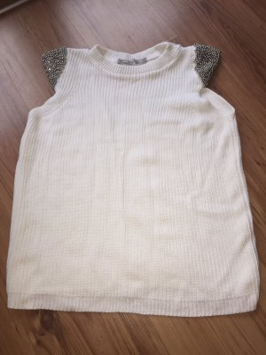 Zara Knit Knitted Top white
