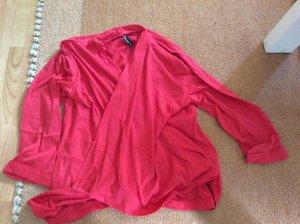 Boléro en tricot rouge polyester