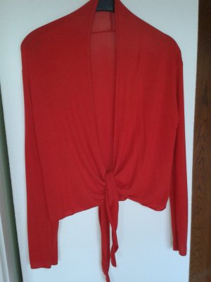 Made in Italy Knitted Bolero red mixture fibre