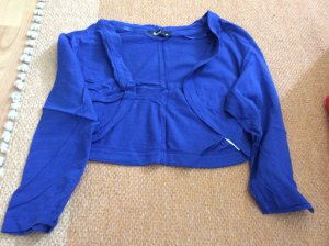Flame Knitted Bolero blue cotton