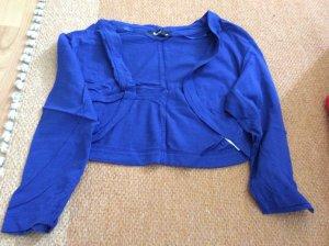 Flame Bolero lavorato a maglia blu Cotone
