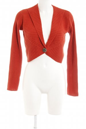 Bolero lavorato a maglia arancione scuro stile casual