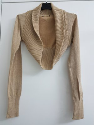 Knitted Bolero gold-colored