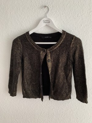 Hallhuber Knitted Bolero black-gold-colored