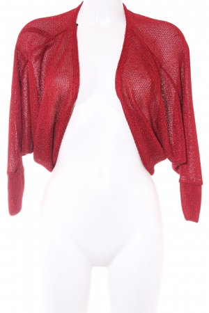 Knitted Bolero red casual look