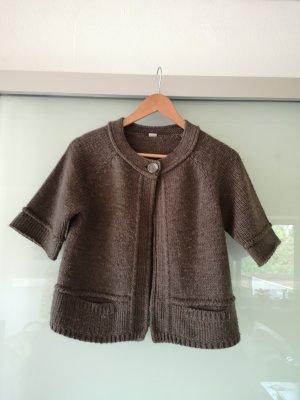 s.Oliver Boléro en tricot gris brun-brun foncé