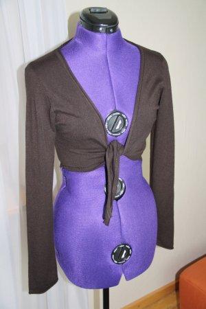 Amisu Boléro en tricot brun foncé
