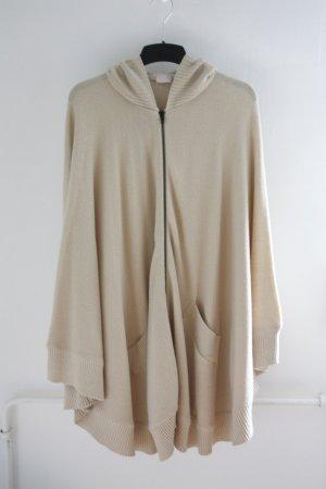 H&M Poncho in maglia beige chiaro-beige