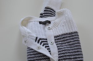 Strickcardigan aus Baumwolle, schwarz-weiß gestreift