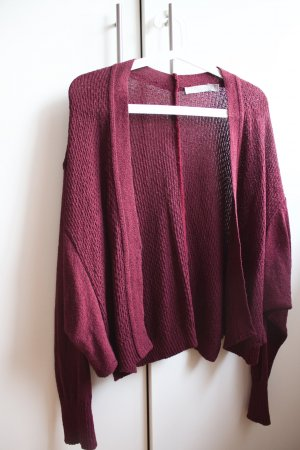 Strickcardigan in Bordeaux