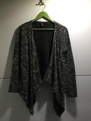 Strickcardigan schwarz-weiß onesize