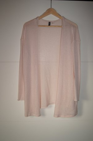 Strickcardigan, Strickweste, leicht transparent in rosa
