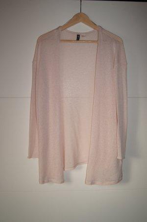 Strickcardigan, Strickweste, leicht transparent in rosa