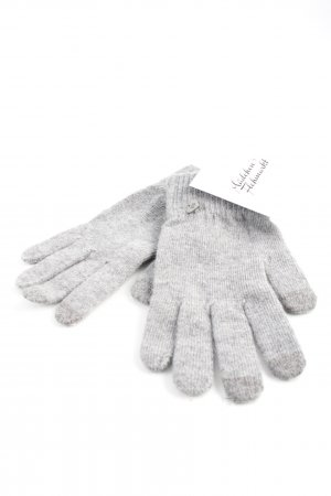 Knitted Gloves grey casual look