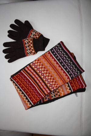 Gloves multicolored wool