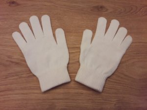H&M Gloves natural white