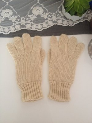H&M Knitted Gloves white-nude wool