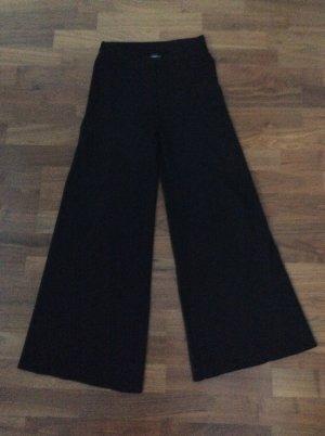 Zara Pantalón anchos negro Viscosa