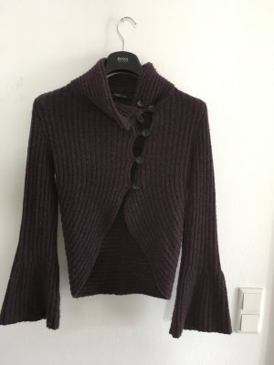 Marc Cain Coarse Knitted Jacket purple
