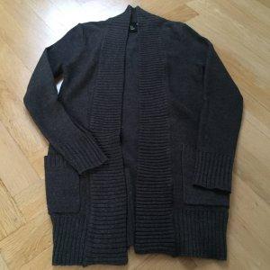 Basic Cardigan gris foncé