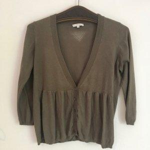 Opus Short Sleeve Knitted Jacket ocher