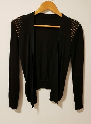Knitted Blazer black-gold-colored