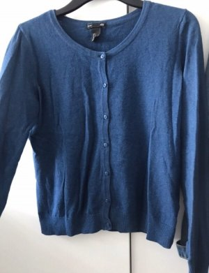 H&M Knitted Cardigan steel blue