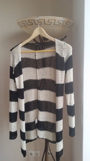 Gehaakte trui wit-zwart