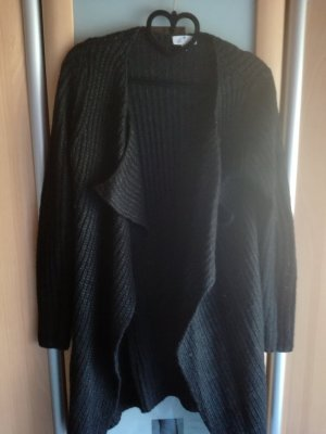 Blue Motion Coarse Knitted Jacket black