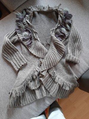 Vestido tejido gris claro-gris