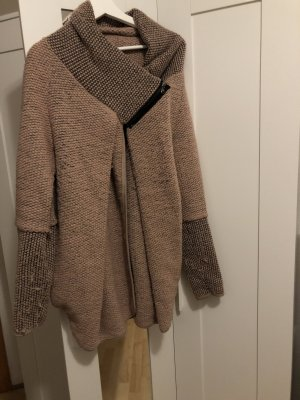 Coarse Knitted Jacket rose-gold-coloured