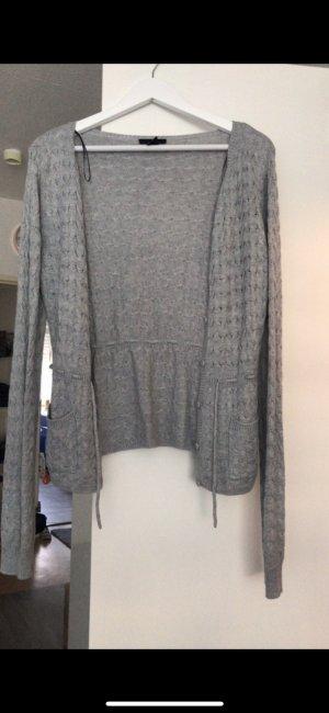 H&M Chaqueta de lana color plata