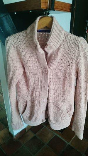 Veste en laine rosé coton