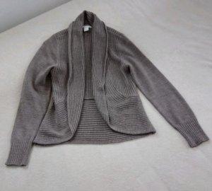 Basic Veste en tricot marron clair