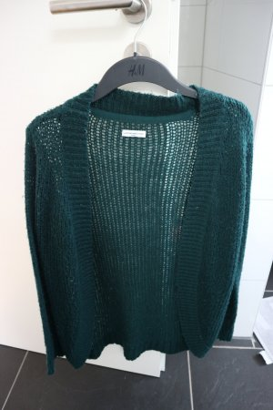 Jaqueline de Yong Coarse Knitted Jacket forest green
