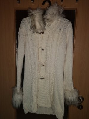 Knitted Coat natural white