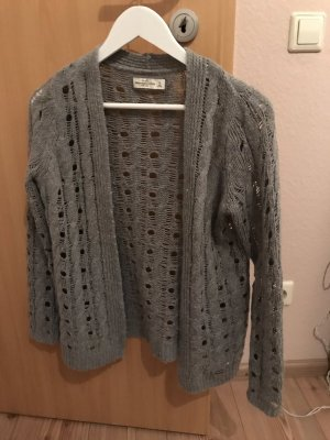 Abercrombie & Fitch Crochet Cardigan grey