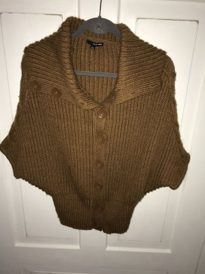 Tally Weijl Short Sleeve Knitted Jacket brown