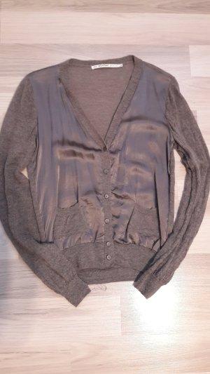NILE atelier Smanicato lavorato a maglia grigio