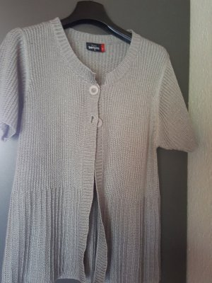 Gina Benotti Short Sleeve Knitted Jacket grey polyacrylic