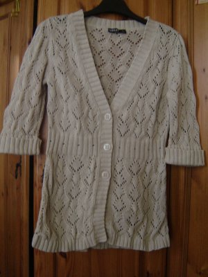 Colours of the World Short Sleeve Knitted Jacket oatmeal