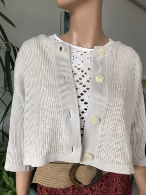 Vintage Coarse Knitted Jacket natural white